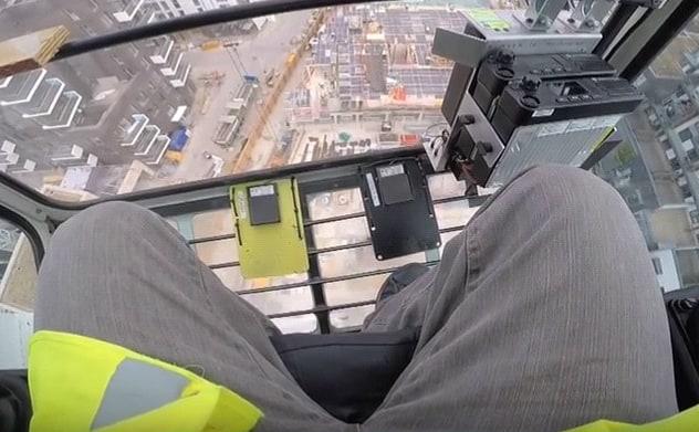 Hands free crane radio